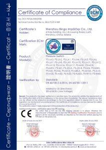 CE pro tlakový spínač
