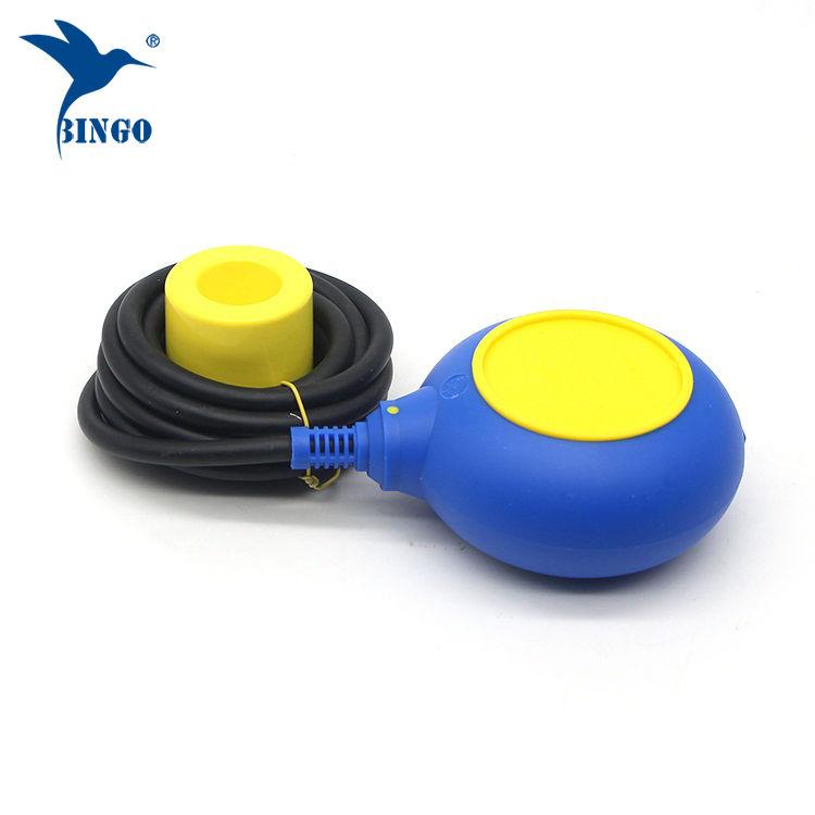 Regulátor úrovně MAC 3 ve žlutém a modrém barevném kabelovém plaveném spínači