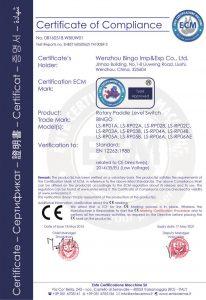 rotační přepínač hladiny CE-1